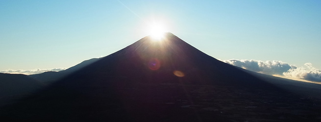 竜ヶ岳ダイヤモンド富士トレッキング アラウンド富士山12ヶ月