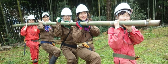 里山つなぎ隊 1月 元気に楽しく竹林整備します!