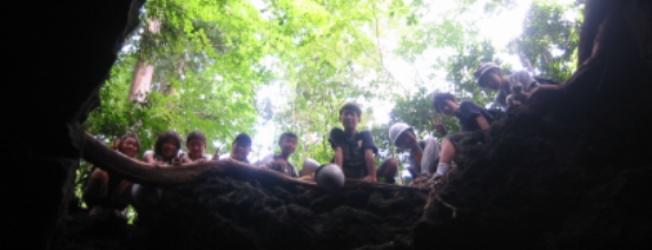 GW洞窟マスターキャンプ ロープを使って洞窟探検にチャレンジ!