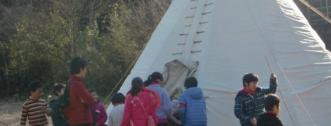 春の遊牧民キャンプ 新小学2年生~6年生まで 2泊3日