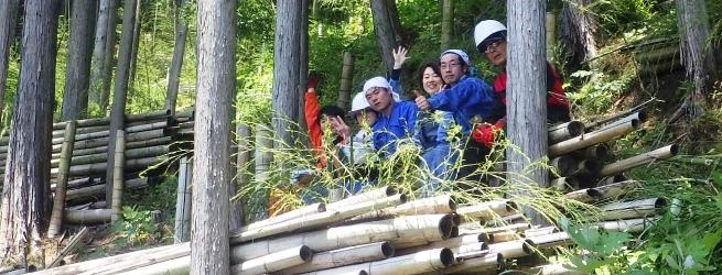 里山つなぎ隊 2月 冬真っ盛り。竹、切ろうぜ!