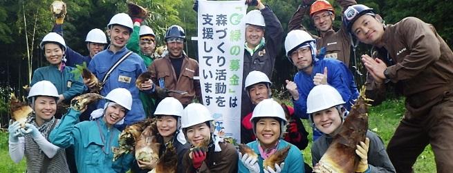 里山つなぎ隊 4月 竹林整備と山菜採り